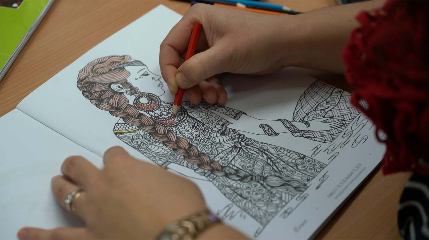 New Coloring Book for Adults Helps Spiritual Creativity