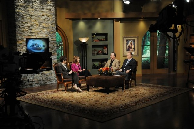Brenda Walsh appears on a 3ABN Thursday Night LIVE program with Mollie Steenson, Danny Shelton, and Jim Gilley.