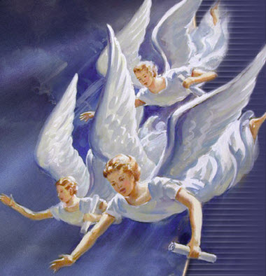 Image result for picture three angels flying in heaven