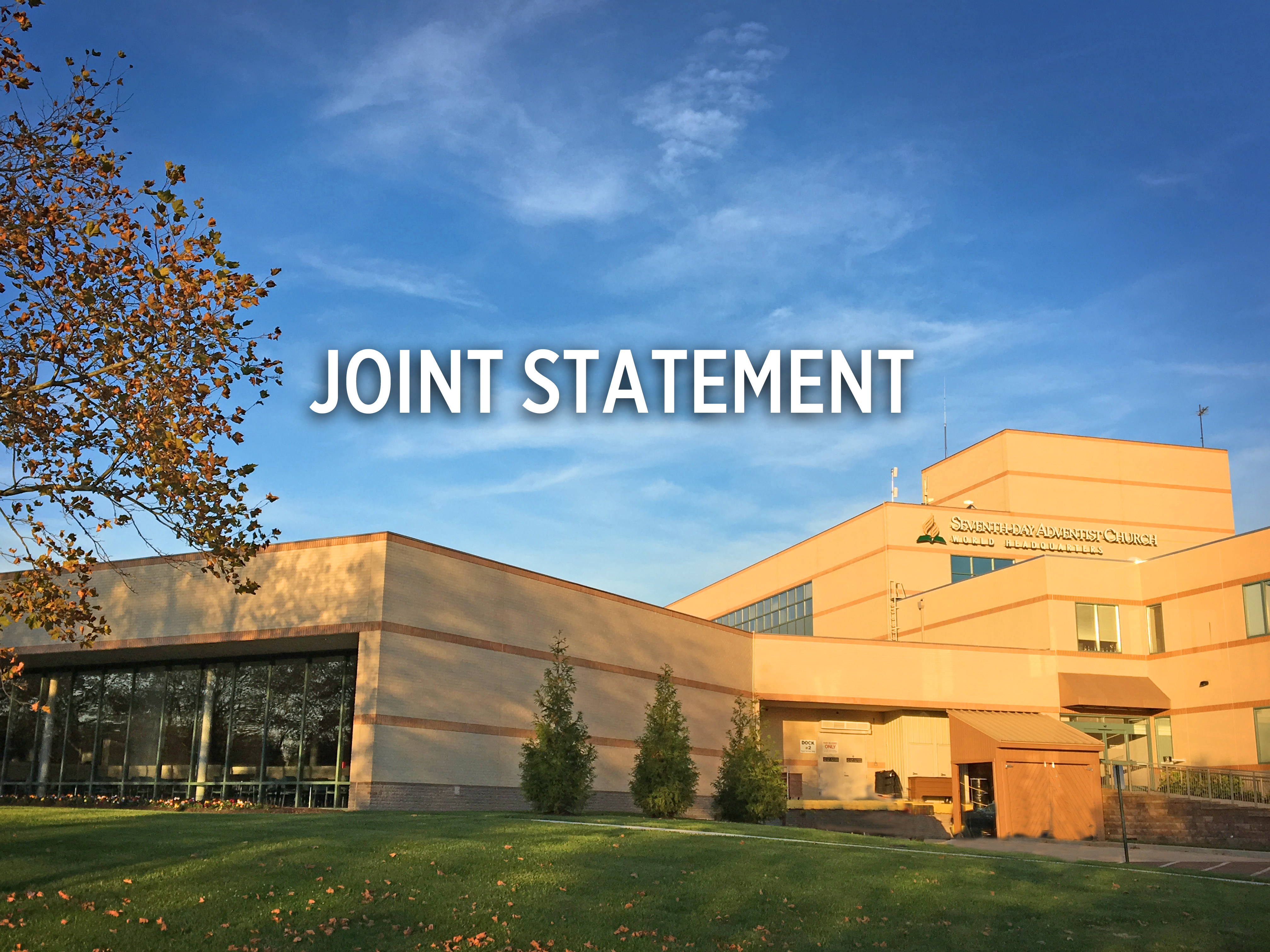 General Conference, NAD Joint Statement Follows Closed-door Meeting