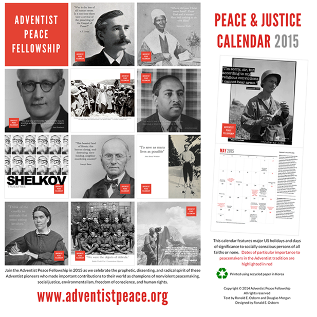 Adventist Peace Fellowship Releases 2015 Peace Calendar In Time for ...