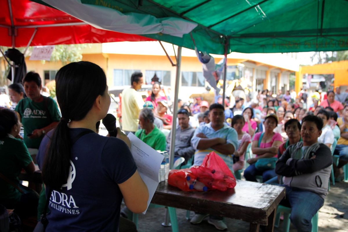 ADRA prepares for an aid distribution in the Cotabato province