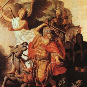TWIGE IVYAHISHUWE 2: 12-17 (IV) Rembrandt_Balaam's_Ass