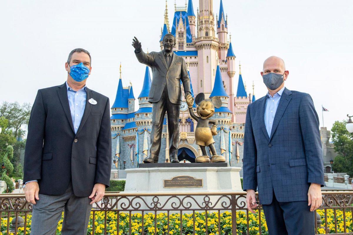 Randy Haffner, President and CEO of AdventHealth's Central Florida Division & Jeff Vahle, President, Walt Disney World Resort.
