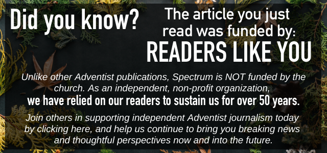 Spectrum Magazine Donation Page: Help Support Independent Adventist Journalism