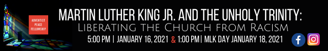 Adventist Peace MLK Event Banner Image