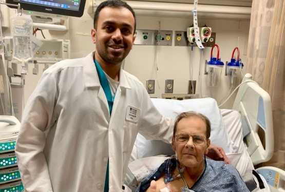 : Seventy-year-old David Quiett from Yucaipa, CA, with his surgeon Aditya S. Bharadwaj