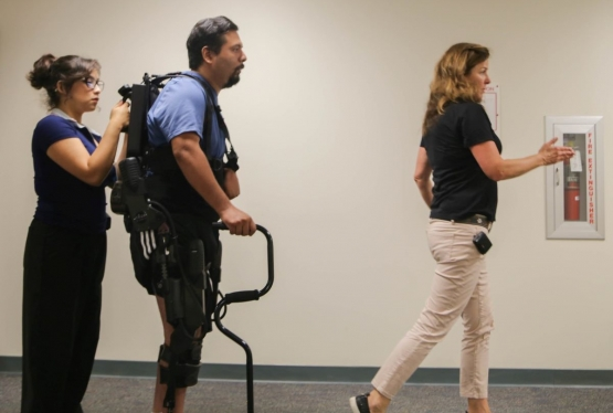 A patient receives specialized rehabilitation at Loma Linda University Medical Center East Campus Hospital.